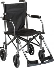 Lightweight chairs, combining functionality of a wheelchair with portability of a rollator.