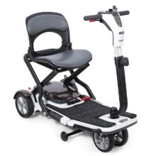 Folding capabilities enhances any mobility scooter allowing for ultimate dependability