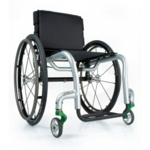 Non-foldig wheelchair with a durable frame to maximize basic function
